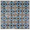 "EliteTile Royalty Millbasin 17.75"" x 17.75"" Ceramic Glazed Tile in Multicolor"