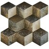 """EliteTile Qubic 16"""" x 15-1/4"""" Textured Ceramic Floor and Wall Tile in Multicolor"""