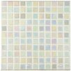 "EliteTile Colgadilla Square 7/8"" x 7/8"" Glass Mosaic Tile in Mother of Pearl"