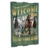 American Expedition Mustang Wooden Cabin Sign Wall Decor
