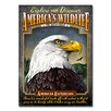 American Expedition Bald Eagle Tin Sign Magnet Wall Art