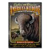 American Expedition Bison Tin Sign Magnet Wall Art
