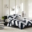 Mi-Zone Libra Reversible Comforter Set in Black