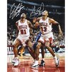 Scottie Pippen and Dennis Rodman Chicago Bulls vs Orlando Magic Autographed Photograph
