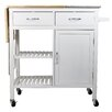 Corner II LTD Nordic Sunrise Granite Island Rolling Kitchen Workstation