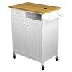 Corner II LTD Nordic Sunrise Kitchen Cart with Butcher Block Top