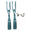 Versailles Home Fashions Chelsea 4 Piece Curtain Tieback and Ball Hook Set