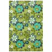 Liora Manne Scattered Green Flowers Area Rug