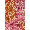 Liora Manne Tivoli Rambling Rose Sunset Orange/Pink Area Rug