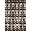Liora Manne Ravella Black / White Zigzag Outdoor Area Rug