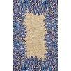 Liora Manne Spello Cobalt Coral Border Blue/Beige Outdoor Area Rug