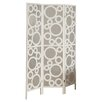 "<strong>71"" x 54"" Frame Bubble Design Folding 3 Panel Room Divider</strong> by Monarch Specialties Inc."