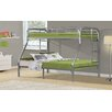 Monarch Specialties Inc. Twin Over Full Bunk Bed with Metal Ladders