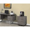 Monarch Specialties Inc. 3-Drawer Mobile Reclaimed-Look File Cabinet On Castors