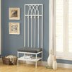 <strong>Monarch Specialties Inc.</strong> Hammered Metal Hall Entry Bench
