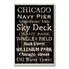Stupell Industries Home Décor Chicago Cities and Words Rectangle Textual Art Plaque