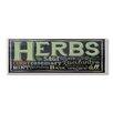 Stupell Industries Home Décor Herbs Chalkboard Look Typography Kitchen Textual Art Plaque