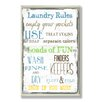 <strong>Stupell Industries</strong> Home Décor Laundry Room Typography Rectangle Textual Art Plaque