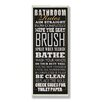 <strong>Home Décor Bathroom Rules Typography Tall Rectangle Textual Art Pl...</strong> by Stupell Industries