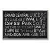 <strong>Stupell Industries</strong> Home Décor NYC Train Station Stop Textual Art Plaque