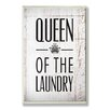 Stupell Industries Home Décor Queen of the Laundry with Crown Bath Textual Art Plaque
