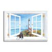 <strong>Pigeon Point Lighthouse Wooden Faux Window Scene Painting Print Plaque</strong> by Stupell Industries