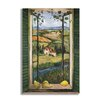 Stupell Industries Country Wooden Faux Window Scene Painting Print Plaque