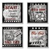 Stupell Industries Home Décor Squares Cinematic Expressions 4 Piece Textual Art Set (Set of 4)