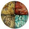"Stupell Industries 12"" Rustic Wildlife Moose Clock"