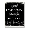 Stupell Industries Every Love Story Chalkboard Textual Art