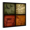 Stupell Industries Rustic Wildlife Patchwork 4 Piece Graphic Art Plaque Set