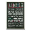 Stupell Industries Laundry Rules Typograp Chalkboard Bath Wall Textual Plaque
