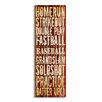 Stupell Industries The Kids Room Touchdown' Football Typography Wall Plaque