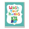 Stupell Industries The Kids Room Wash Your Hands Rectangle Wall Plaque