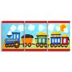 Stupell Industries The Kids Room 3 Piece Choo Choo Train In The Sun Oversize Triptych Wall Plaque Set