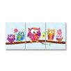 Stupell Industries The Kids Room 3 Piece Owls On Branch Rectangle Wall Plaque Set