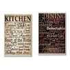 Stupell Industries Dining & Kitchen 2 Piece Textual Art Plaque Set