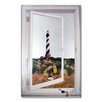 Stupell Industries Faux Window Mirror Screen with Cape Hatteras Lighthouse Painting Print
