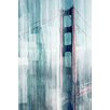 Parvez Taj Golden Gate Painting Print on Canvas