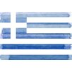 Parvez Taj Greek Flag Painting Print on Canvas