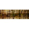 Parvez Taj Lake Trees - Art Print on Natural Pine Wood
