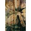 Parvez Taj Blue Water Graphic Art Plaque on Natural Pine