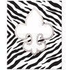 Secretly Designed Bling Fleur De Lis with Zebra Art Print