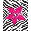 <strong>Secretly Designed</strong> Flower with Zebra Print Wall Decal