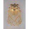 Warehouse of Tiffany Heap 2 Light Crystal Wall Lamp
