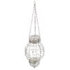 A&B Home Group, Inc Beaded Metal and Glass Lantern