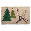 TAG Woodland Prancing Reindeer Coir Mat