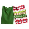 TAG Whimsy 2 Piece Santa and Friends Dishtowel Set
