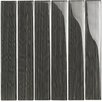 "<strong>Epoch Architectural Surfaces</strong> Brushstrokes 12"" x 12"" Glass Gloss Tile in Pewter Gray"