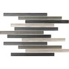 """Epoch Architectural Surfaces Narrows 1"""" x 12"""" Glass Textured Mosaic Tile in Moss"""